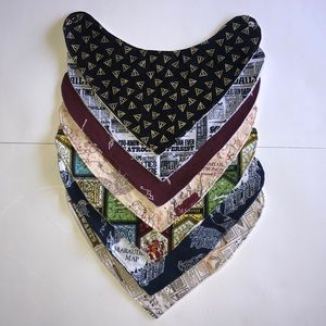 NEW Handcrafted Harry Potter Baby Bib Bundle